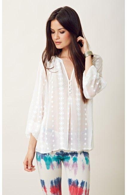 Zoa Long Sleeve Lace Blouse 115