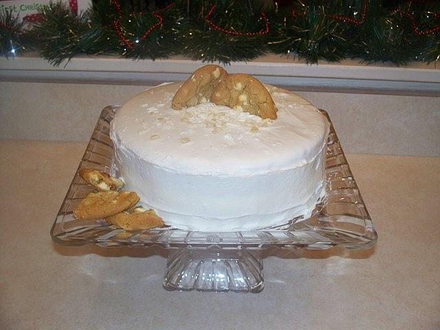 White Chocolate-Macadamia Nut Sheet Cake Recipe — Dishmaps