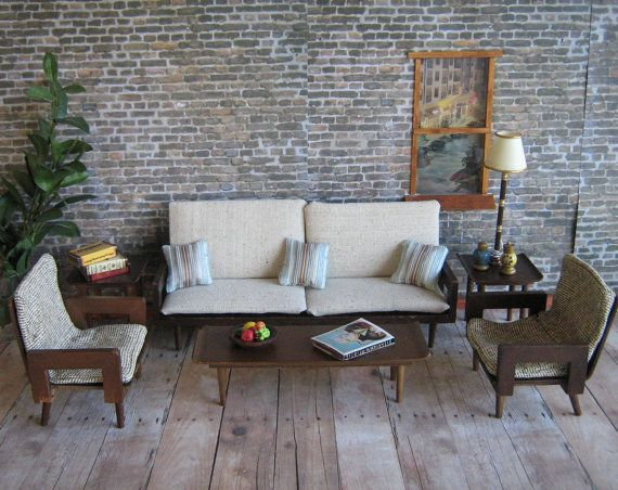 Vintage 50s mattel danish modern living room set by thetoybox 100