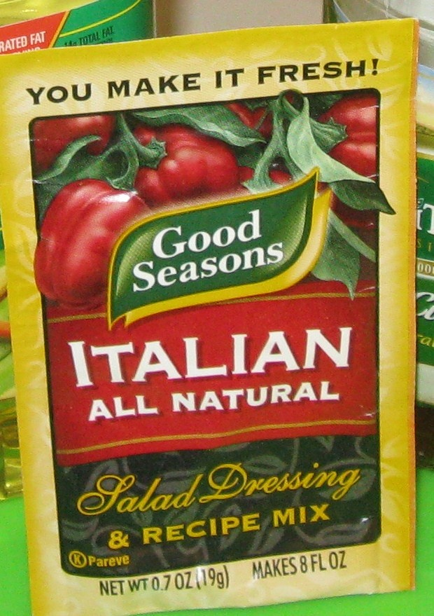 Seasons Italian Dressing & Seasoning Mix. I don't use the dressing ...