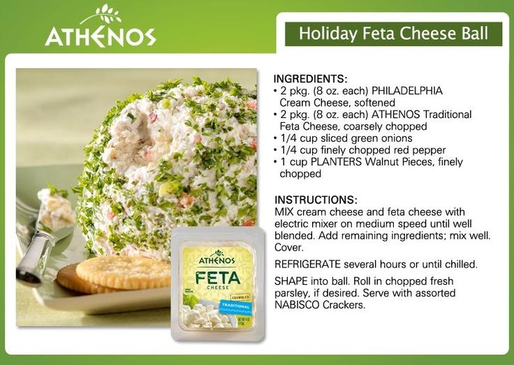 Holiday Feta Cheese Ball....LOVE ATHENOS FETA!!!!!