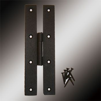 h hinge  Door Hinges Black Wrought Iron