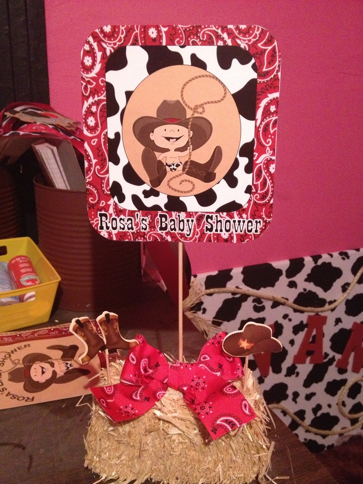 little cowboy baby shower decorations minus the ugly baby print out
