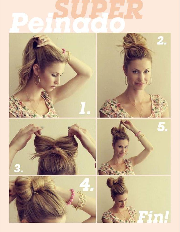 Model Minute Hairstyles Quick Easy Updo Cute Low Bun  Medium Hair Styles