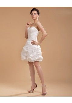 Column sweetheart sleeveless elastic woven satin white wedding dress