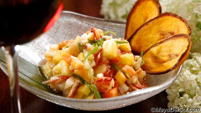| ceviche de langosta | lobster · mango · papaya · pineapple ...