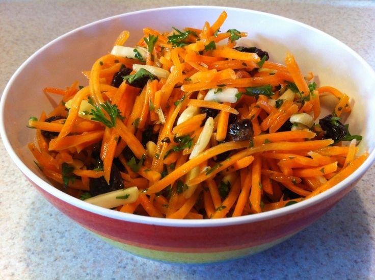 Carrot-Almond-Raisin Salad | Natural Recipes | Pinterest