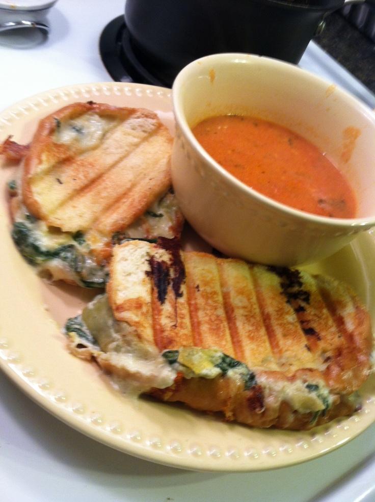 Spinach artichoke grilled cheese. No Recipe