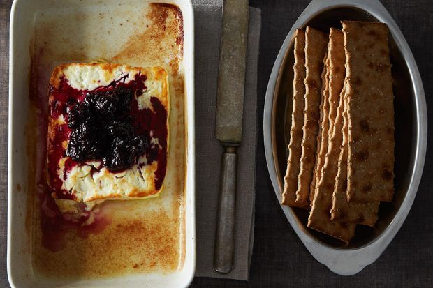 Baked Feta with Rosemary Blackberry Compote. MUST try this with ...