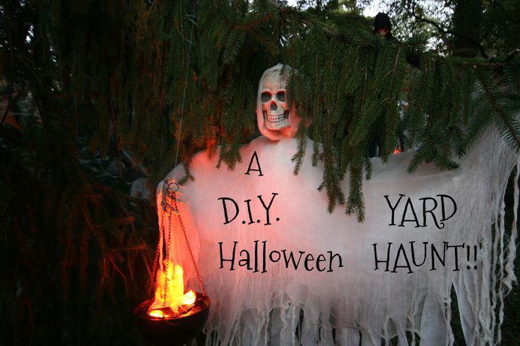 Haunted Backyard Ideas Halloween : Dont forget to stop and eat the roses A DIY Halloween YARD HAUNT!