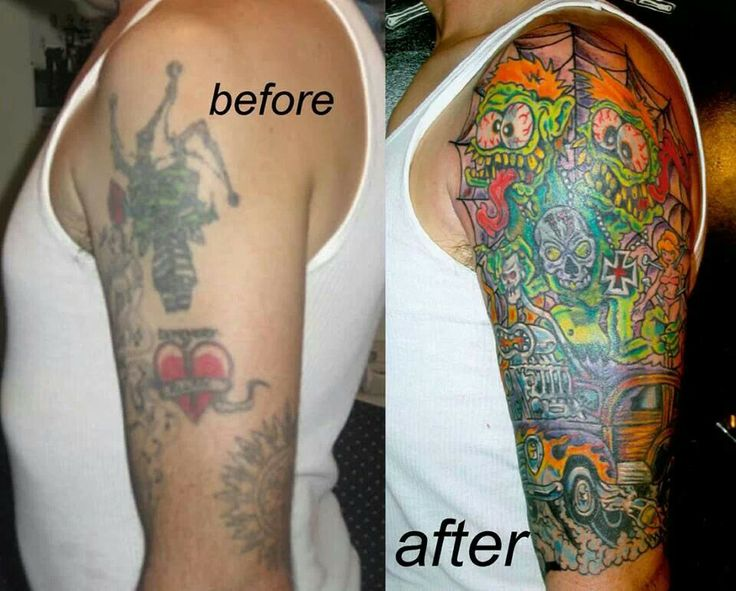 Tattoo cover up by Bad Ink's Dirk Vermin, he does great work!