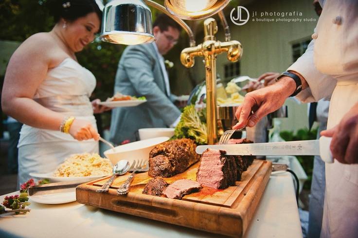 Herb crusted rib-eye roast carving station http://eventsbyclassic.com