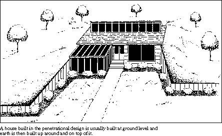 Penetration Earth Shelted House Plan Green Grass Homes