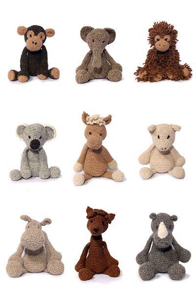 Crochet Patterns Of Animals : menagerie animal crochet patterns