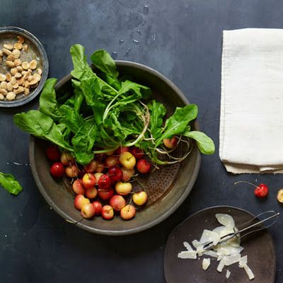 Arugula, Golden Cherries, Marcona Almonds and Parmigiano-Reggiano ...
