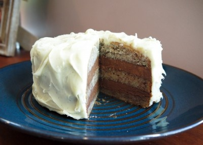 ... Cake - Banana Cake with Nutella Buttercream and Cream Cheese Frosting