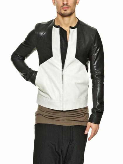 Paneled Leather Jacket by Rick Owens on Gilt.com