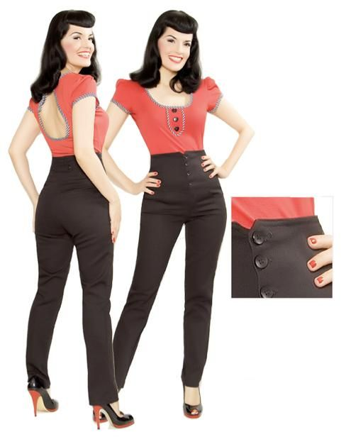 Model 50s Clothes For Women Pants Images Amp Pictures  Becuo