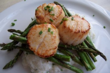 Scallops with Asparagus | Yummy Savory Food | Pinterest