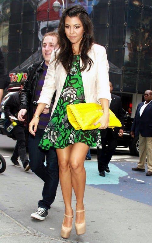 kourtney kardashian: bright clutch.