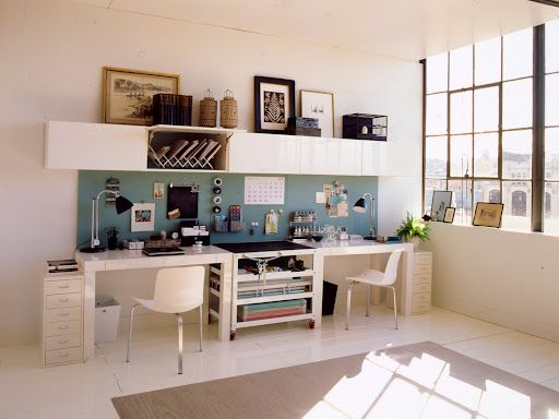 Office Space His Hers Home Office Ideas Pinterest