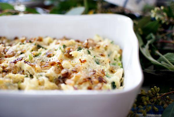 Kale, Olive Oil, Scallion Mashed Potatoes
