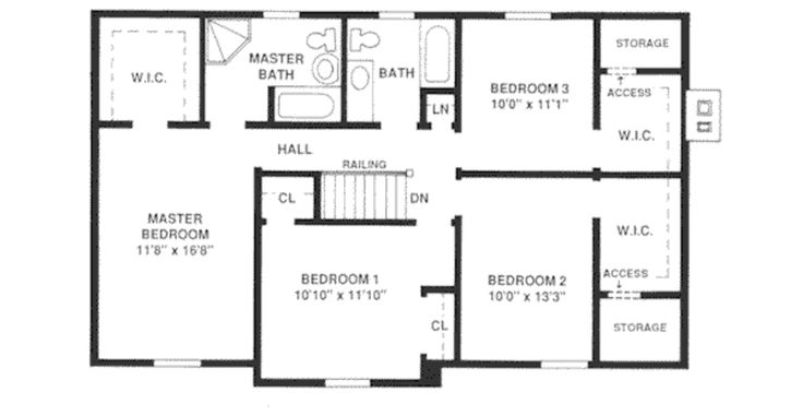 Pin by jamie panaciulli on 1 design center hall colonial Center hall colonial floor plans