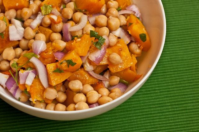 Comfort Food: Warm Butternut Squash and Chickpea Salad with Tahini ...