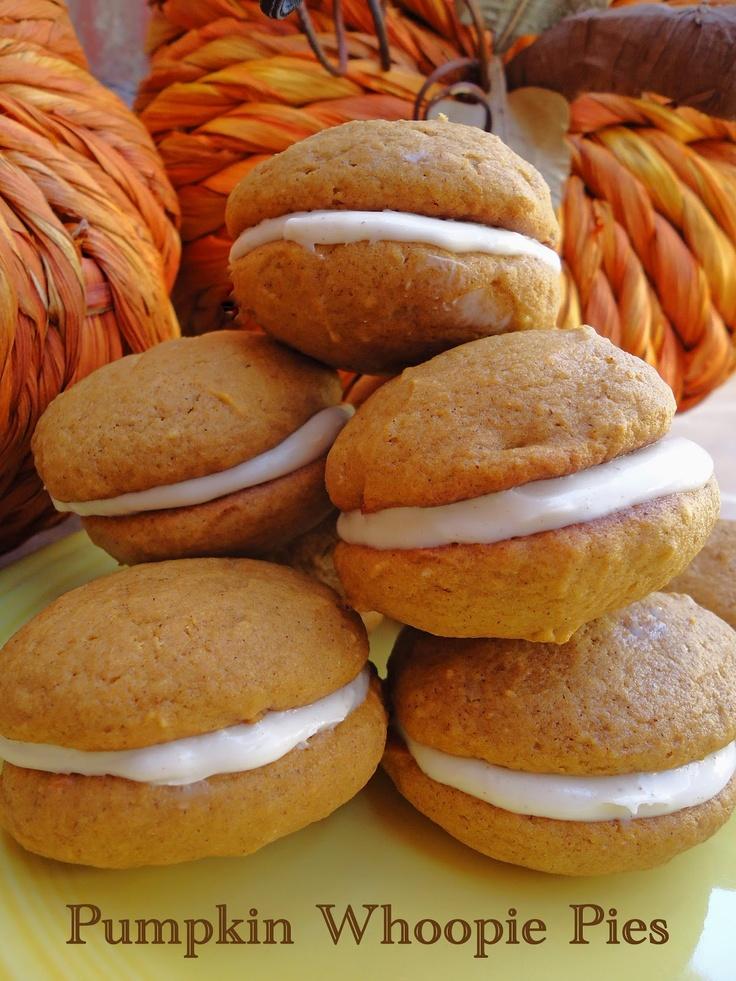 Pumpkin Whoopie Pies | Just Desserts | Pinterest