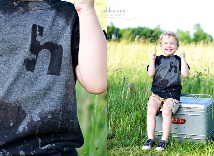 DIY Bleach tshirts - squirt guns involved. Will have to do this in the summer.