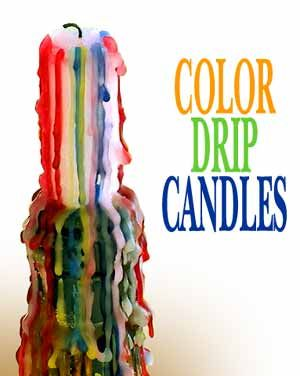 Good old fashioned drip candles...I miss them. They are the coolest!!!!