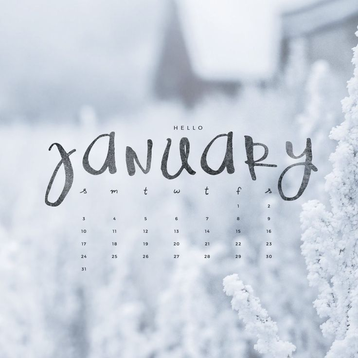 January Calendar 2018 Wallpaper | | 2018 january calendar