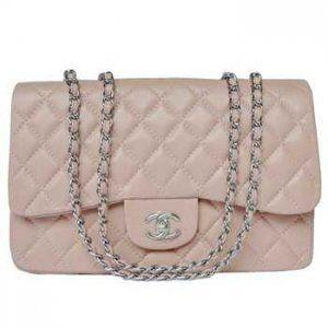 Chanel 2.55 Sacs bandoulière bandoulière Silverchain Rose CCS271,sac chanel france  €134.00