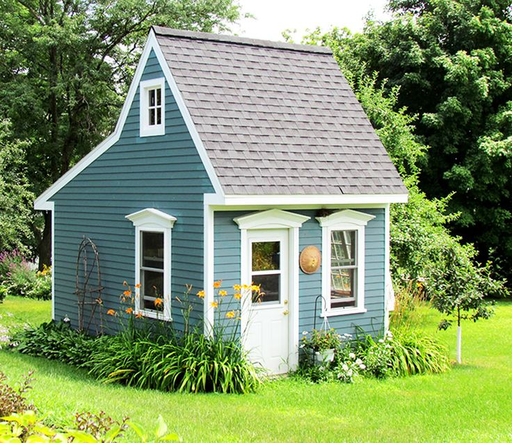 Cottage gardening around shed playhouse pinterest for Shed roof cottage