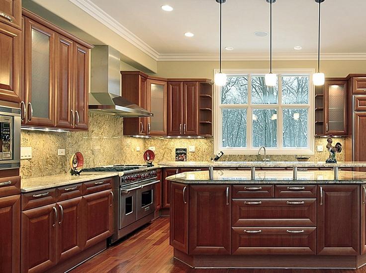 full granite backsplash Kitchens Pinterest