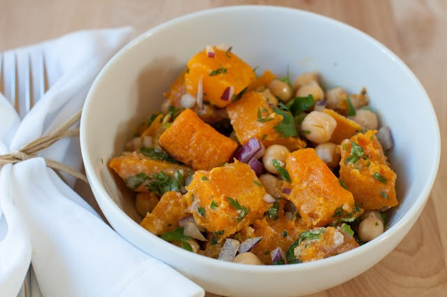 warm butternut squash and chickpea salad | Food for the Fam | Pintere ...