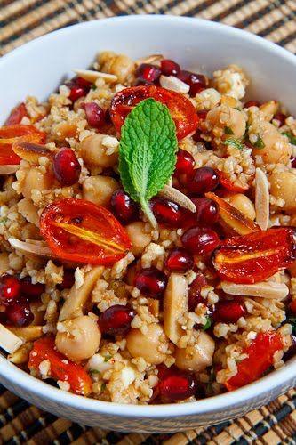 Pomegranate and Roasted Tomato Bulgur Salad | Recipe