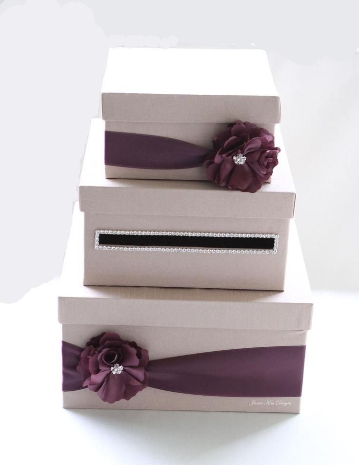 Gift Card Holder Box For Wedding : Wedding Card/ Money Box Gift Card Holder - choose your box & flower c ...
