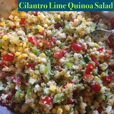 Cilantro Lime Quinoa Salad | Food/Baking | Pinterest
