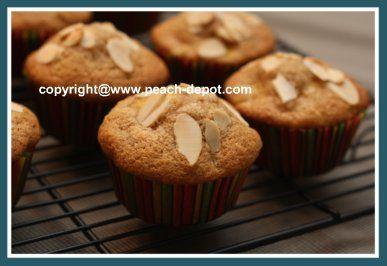 Almond PEACH muffins healthy | Peach Recipes | Pinterest