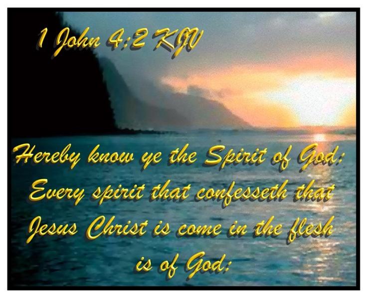 Image result for 1 John 4:2