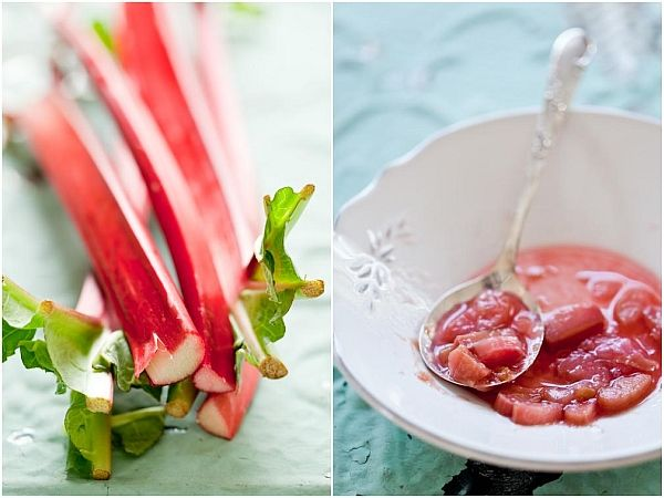 ... rhubarb/ {Lavender Panna Cotta with poached rhubarb. Recipe