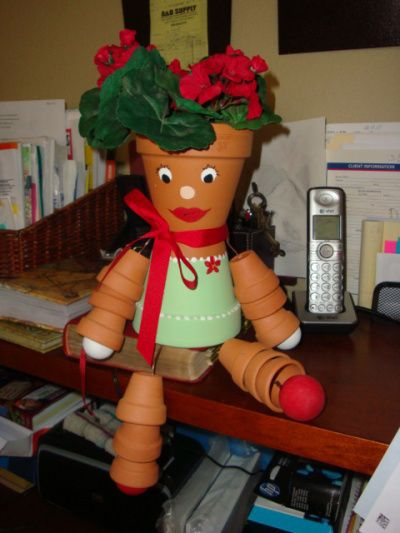 Flower pot people no directions craft this pinterest for How to make clay pot people