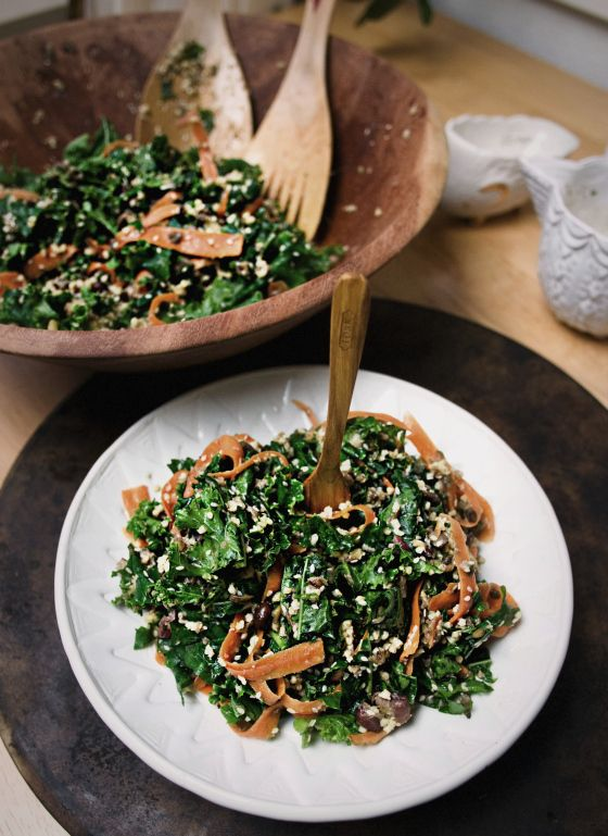 Sesame Kale Salad with Millet and Sprouted Beans