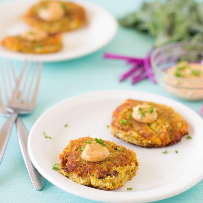 Sweet Potato and Kohlrabi Fritters with Yogurt-Tahini Sauce - Jessica ...