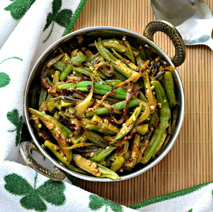 Bhindi Do Pyaza - Okra Onion Stir Fry | [ Vegetarian ] | Pinterest
