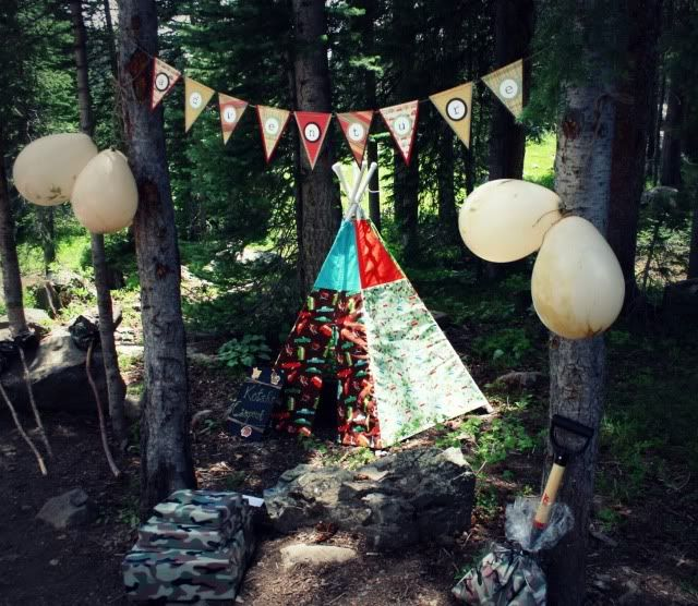 Camping birthday ideas with a scavenger hunt and smores