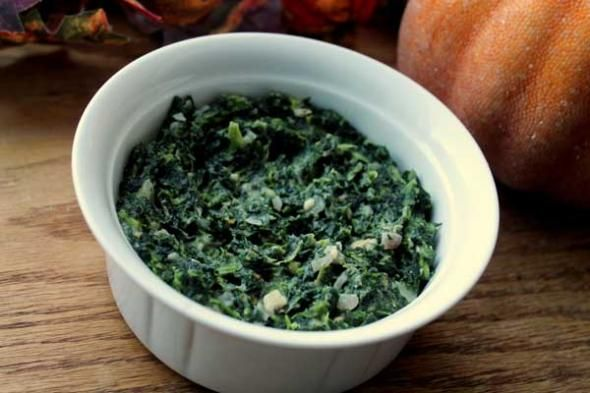 Lightened Up Creamed Spinach Recipe | food and drink | Pinterest