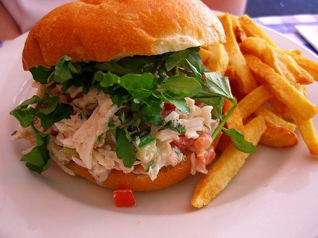 Crab salad sandwich | Yummy Things | Pinterest