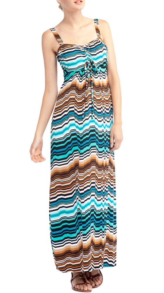 {Striped Maxi Dress - Turquoise}